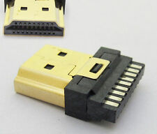 1 pcs 19pin HDMI Type A socket Male Plug Connector Gold