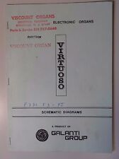 Original Galanti Virtuoso (F3-F5) Electronic Organ Schematic Diagrams