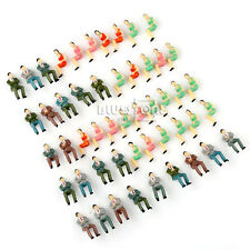 50pcs Well Painted Model Train Seated People Passengers Figures 1:50 O Scale