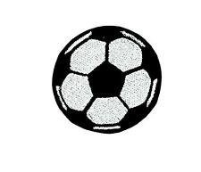 Patch toppe toppa ricamate termoadesiva calcio soccer foot football pallone