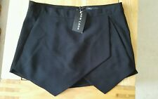 Señoras Skort, New Look, Negro, Falda/Pantalones Cortos, talla 10, BNWT