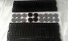 NEW GENUINE LEGO TECHNIC BLACK CATERPILLAR TRACK'S x 100 + DRIVE & GUIDE WHEEL'S