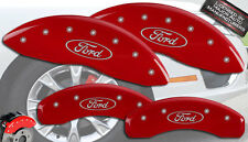 "2010-2011 ""Ford"" F150 F-150 Front + Rear Red MGP Brake Disc Caliper Covers 4pc"