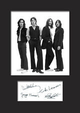 THE BEATLES Signed Photo Print A5 Mounted Photo Print - FREE DELIVERY