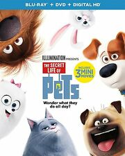 The Secret Life of Pets (Blu-ray + DVD + Digital HD; 2016) NEW with slipcover