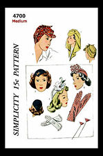 HAT Gloves Fabric Material Pattern Vintage ROSIE THE RIVETER SIMPLICITY 4700 MED