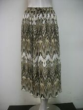 Alfred Dunner Tribal Fusion Broomstick Crinkle Skirt #44120 Multi Sz 8 New NWT