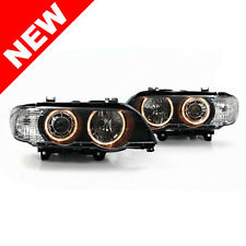 00-03 BMW E53 X5 ANGEL EYE PROJECTOR HEADLIGHTS - BLACK