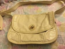 Pre-Owned Authentic Marc By Marc Jacobs Genuine Italian Leather Crossbody Ivory