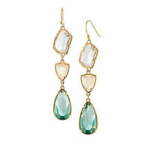 Women chandeliers  Stella Style Blue crystal Style Dot Party Drop Earrings
