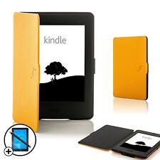 Leather Yellow Smart Case for Amazon Kindle Paperwhite 2015 + Screen Prot Stylus