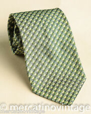 S.T.DUPONT cravatta in seta verde green silk tie made in Italy
