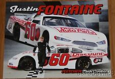 2014 Justin Fontaine Discount Auto Parts Ford Fusion NASCAR Whelen postcard