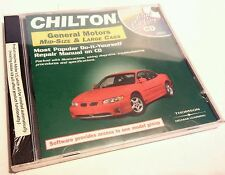 NEW SEALED - GM MID-SIZE & LARGE CARS AUTO REPAIR MANUAL, TOTAL CARE CD CHILTON
