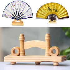 Chinese Bamboo Hand Folding Fan Holder Display Base Stand Home Room Decor Gifts
