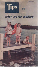 TIPS ON COLOR MOVIE MAKING (1954) 24-page Bell & Howell illustrated booklet