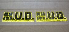 "2 MUD Moose Utility Division Pro Staff 8""x3"" sticker/decal NEW atv motocross"