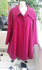Años 50 Swing Abrigo de color rosa, talla 12, Lana/Cachemira, diseñador español El Corte Ingles