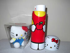 HELLO KITTY KOOKY KookyCan Tin Can Pencil Pen Case + Free Plush Toy 4""