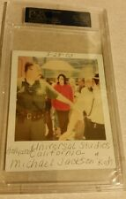 Michael Jackson w/Kids Autographed Polaroid Photo PSA/DNA  Authenticated