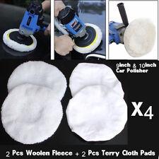 """9""""& 10"""" 4pcs Car Polishing Bonnet Buffer Polishing Pad For Waxing Care Cleaning"""