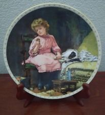 """""""In Good Hands"""" Plate~A Victorian Childhood Collection~ Charles Barber 1992"""