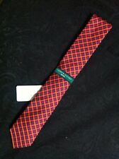 TOMMY HILFIGER VINTAGE MENS NEW MULTICOLOR 100% SILK SKINNY NECK TIE