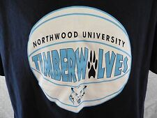Northwood University Timberwolves BASKETBALL T-Shirt XL 100% Cotton Michigan