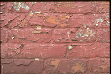 366003 Red Brick Wall Chipped Paint A4 Photo Texture Print