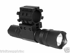 TRINITY Tactical 220 Lumen Flashlight + Mount Fits 12 Gauge Mossberg 500.