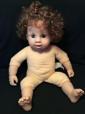"""Baby So Real Butterfly Kisses Girl 17"""" Doll Irwin Toy 2008 Blue eyes Brown hair"""
