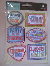 Marcella K Dimensional Stickers Word Tag  New Scrapbook
