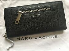Brand New Marc Jacobs Gotham City Travel Wallet In Black