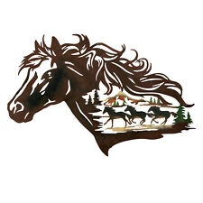 Metal Western Horse Shadow Wall Art, by Collections Etc