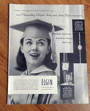1957 Elgin Watches Ad 1st Choice of the Class of '57 Lord & Lady Elgin