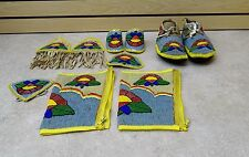 NICE HANDCRAFTED 10 PIECE CUT BEADED FLOWER DES.NATIVE AMERICAN INDIAN DANCE SET