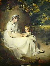 SIR THOMAS LAWRENCE BRITISH LADY MARY TEMPLETOWN ELDEST SON ART PRINT BB6378A