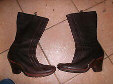 Timberland Stratham Heights Women's BROWN  Leather Knee High Wedge Boots 9m