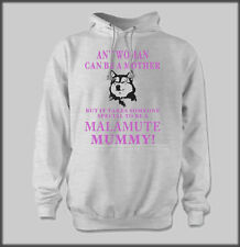 FUNNY ALASKAN MALAMUTE MUMMY MALLY MUSH MUSHER HOODY SLED DOG PERSONALISED MUM