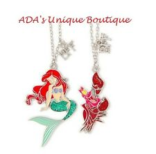 Disney The Little Mermaid Ariel & Sebastian Best Friends BFF Pendant Necklaces