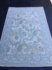 LAURA ASHLEY FLOOR  RUG IN BAROQUE DUCK EGG BLUE, AS NEW CONDITION,120 x 180cms