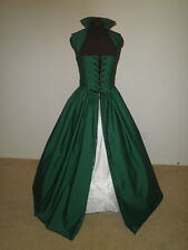 Hunter Green Renaissance Dress Gown Costume many Sizes Available & more colors!