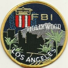 Fbi: hollywood-los angeles-California Police Patch policía insignia de tela