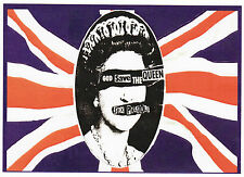 Sex pistols autocollant god save the queen jubilee english anarchy punk rock 1977 A6