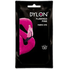 FLAMINGO PINK DYLON HAND WASH FABRIC CLOTHES DYE 50g TEXTILE PERMANENT COLOUR