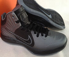 new Nike Lunar Hypergamer 469756-007 Grey Black Basketball Shoes Men's 7 NBA