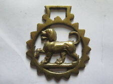 HORSE BRASS of a WALKING LION in VERY GOOD DETAIL c1950s CLASSIC SHAPE