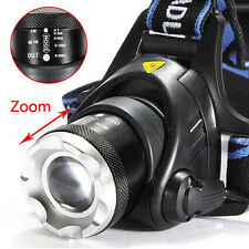 New 6000LM LED Headlight Head Light Lamp Zoomable Adjustable Torch Flashlight