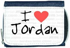 I Love Heart Jordan Denim Wallet