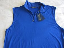 XL Polo Golf Ralph Lauren Mens Performance Blue Half Zip Vest NEW NWT XL